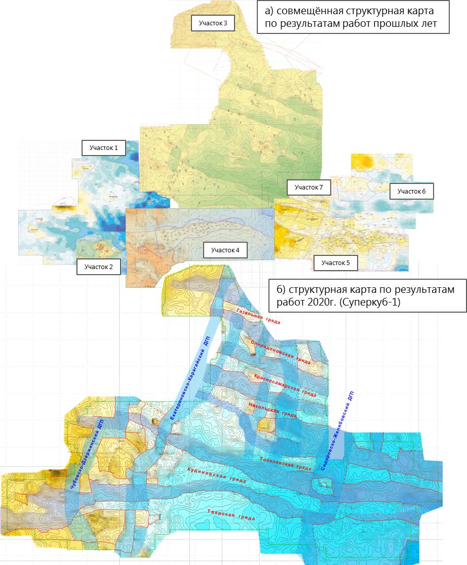 Aktualizirovannaya strukturnaya karta po poverkhnosti kristallicheskogo fundamenta